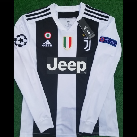 18 19 Juventus long sleeve soccer jersey Ronaldo 860b53010